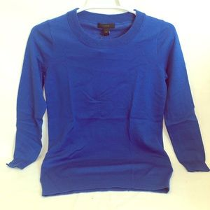 J Crew 100% Merino Wool Sweater Blue